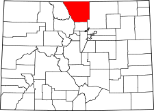 Colorado Map showing Larimer County