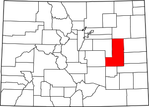 Colorado Map showing Lincoln County