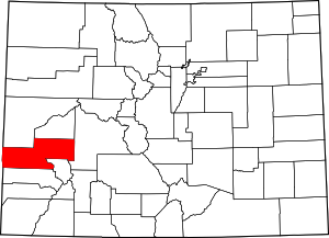 Colorado Map showing Montrose County