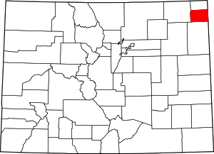 Colorado Map showing Phillips County