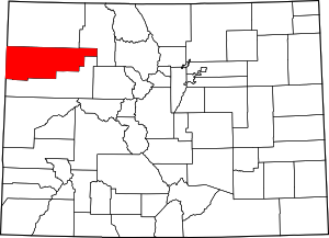 Colorado Map showing Rio Blanco County