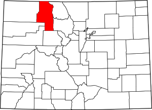 Colorado Map showing Routt County