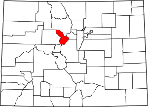 Colorado Map showing Summit County