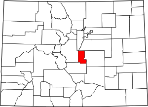 Colorado Map showing Teller County
