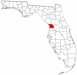 Florida Map showing Citrus County