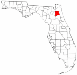 Florida Map showing Clay County