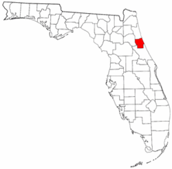 Florida Map showing Flagler County
