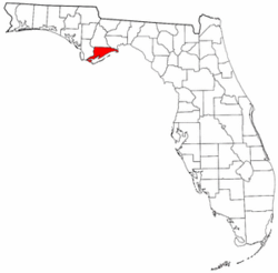 Florida Map showing Franklin County