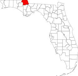 Florida Map showing Jackson County