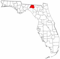 Florida Map showing Madison County