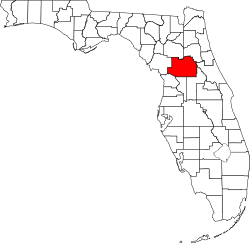 Marion County Florida Map.Radon Levels For Marion County