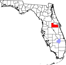 Florida Map showing Orange County