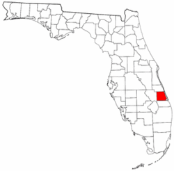Florida Map showing Saint Lucie County
