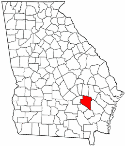 Georgia Map showing Appling County