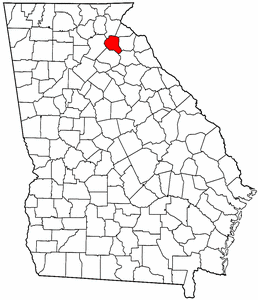 Georgia Map showing Banks County