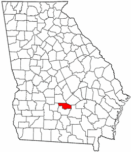 Georgia Map showing Ben Hill County