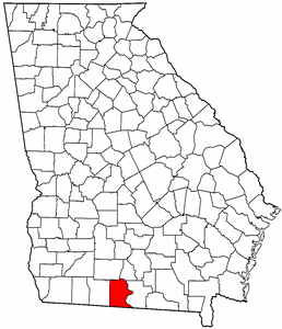 Georgia Map showing Brooks County