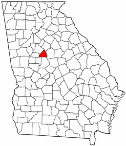 Georgia Map showing Butts County