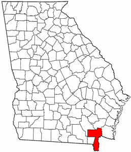 Georgia Map showing Charlton County