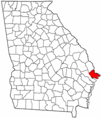Georgia Map showing Chatham County