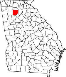Georgia Map showing Cherokee County
