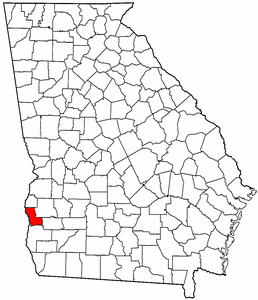 Georgia Map showing Clay County