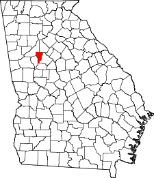 Georgia Map showing Clayton County