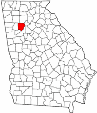 Georgia Map showing Cobb County