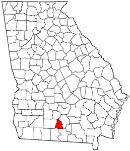 Georgia Map showing Cook County