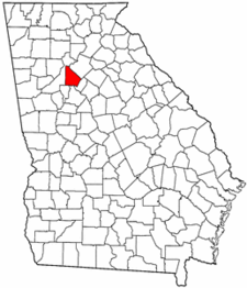 Georgia Map showing DeKalb County