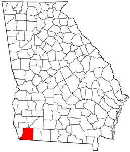 Georgia Map showing Decatur County