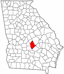 Georgia Map showing Dodge County