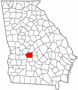 Georgia Map showing Dooly County