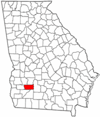 Georgia Map showing Dougherty County