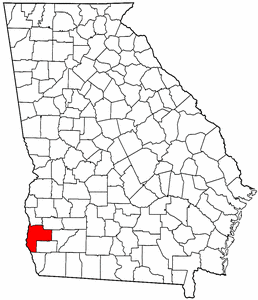 Georgia Map showing Early County