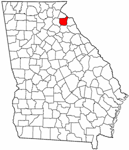 Georgia Map showing Franklin County