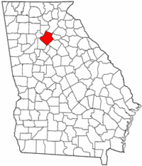 Georgia Map showing Gwinnett County