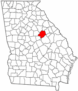 Georgia Map showing Hancock County