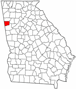Georgia Map showing Haralson County