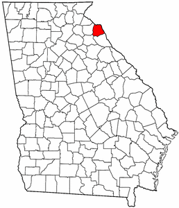 Georgia Map showing Hart County