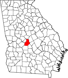 Georgia Map showing Houston County