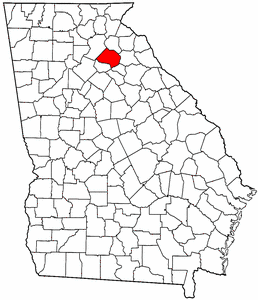 Georgia Map showing Jackson County