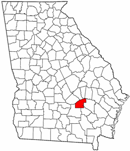 Georgia Map showing Jeff Davis County