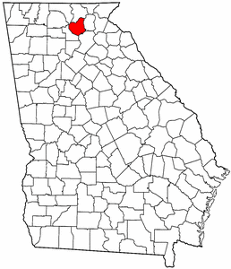 Georgia Map showing Lumpkin County