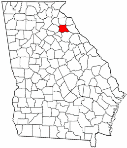 Georgia Map showing Madison County