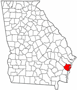Georgia Map showing McIntosh County