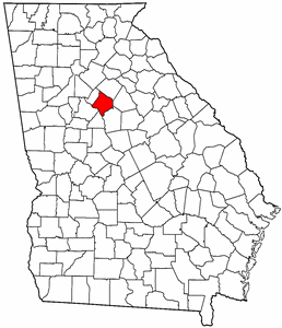 Georgia Map showing Newton County