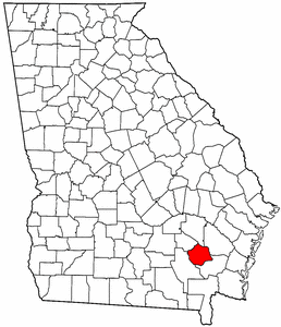 Georgia Map showing Pierce County