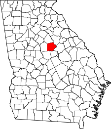 Georgia Map showing Putnam County