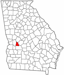 Georgia Map showing Schley County